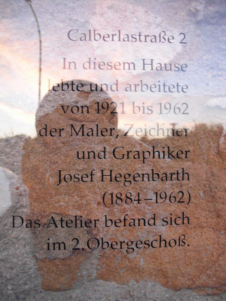 Tafel am Joseph-Hegenbarth-Archiv, Loschwitz, Dresden