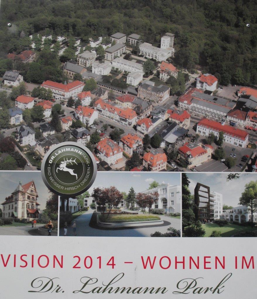 Werbeplakat: Vision 2014 für den Lahmann-Park am Weißen Hirsch in Dresden