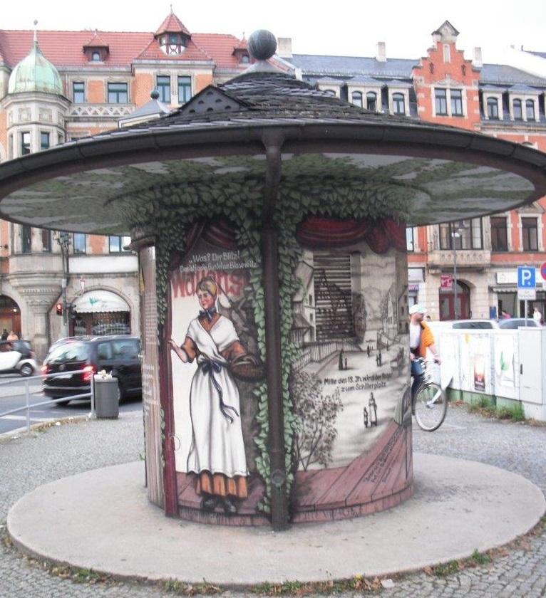 Erinnerung an Friedrich Schiller, Schillerplatz, Dresden-Blasewitz