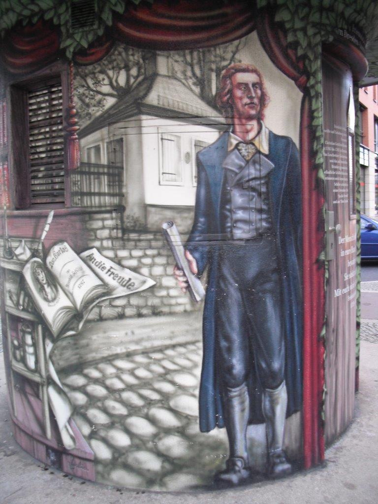 Friedrich Schiller, Namensgeber des Schillerplatzes, Blasewitz, Dresden