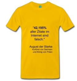 42,195% aller Zitate im Internet sind falsch. August der Starke, Kurfürst von Sachsen und König von Polen.