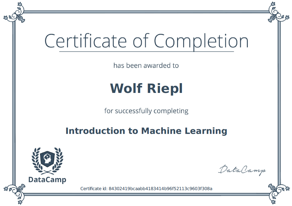 DataCamp: Machine Learning