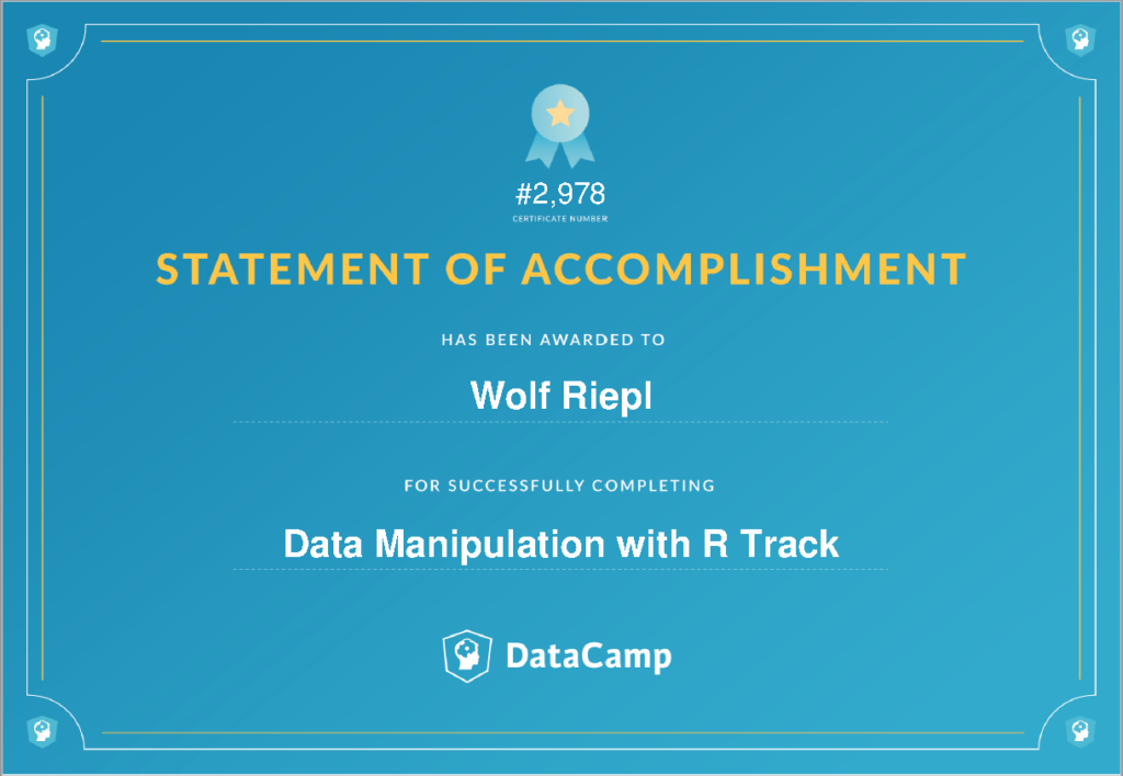 R Skill Track: Data manipulation with R