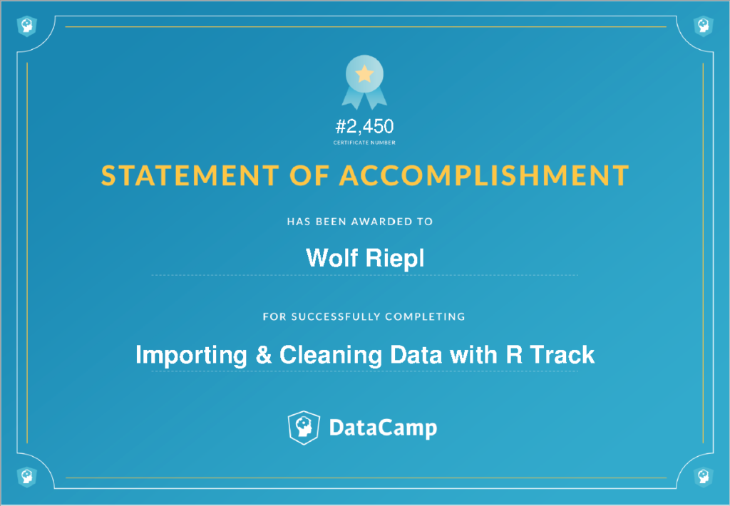DataCamp Track: Importing & Cleaning Data with R