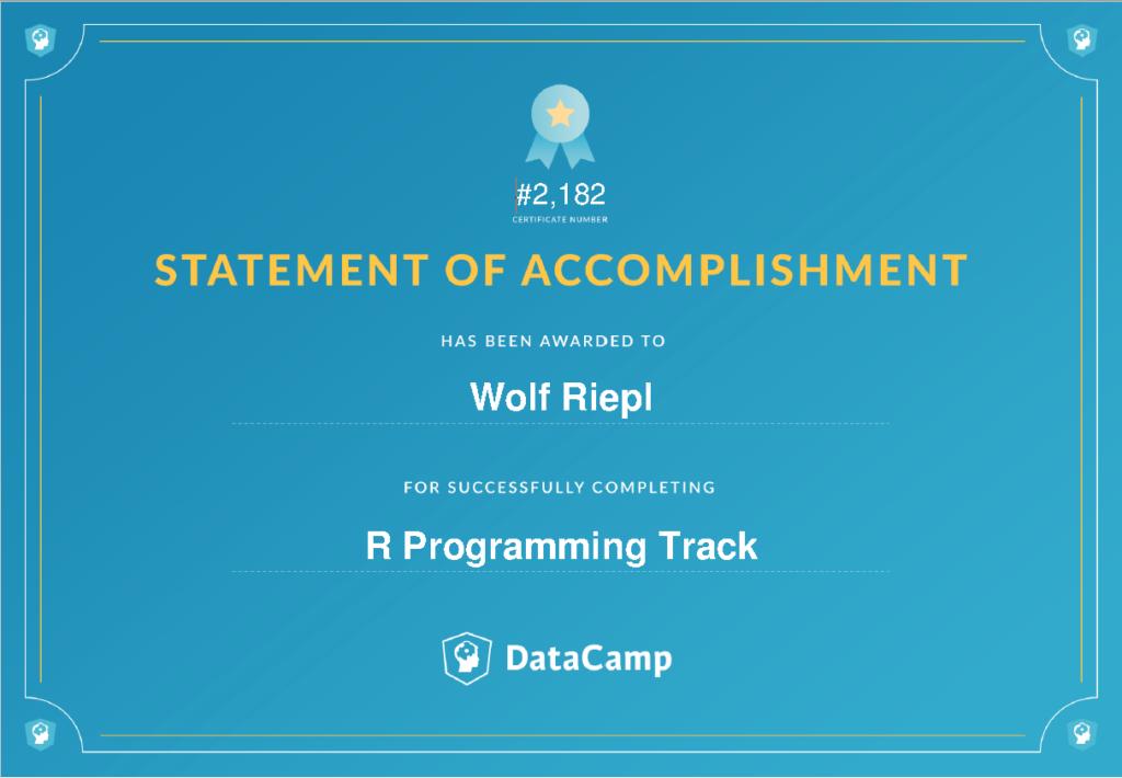 Datacamp Track: R programming