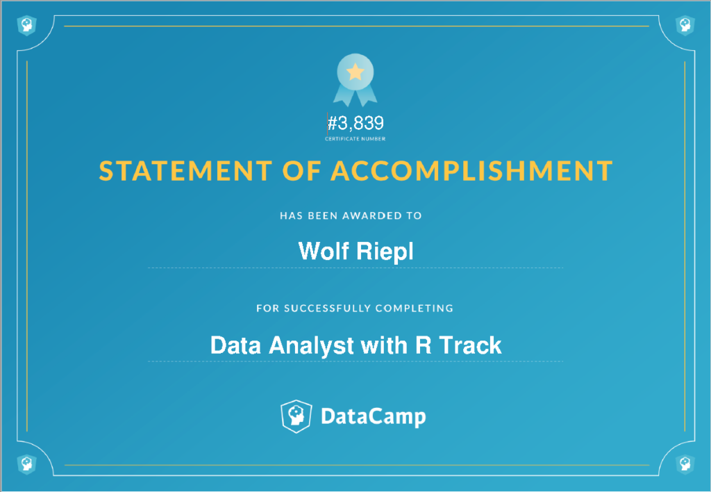 DataCamp: Data Analyst with R