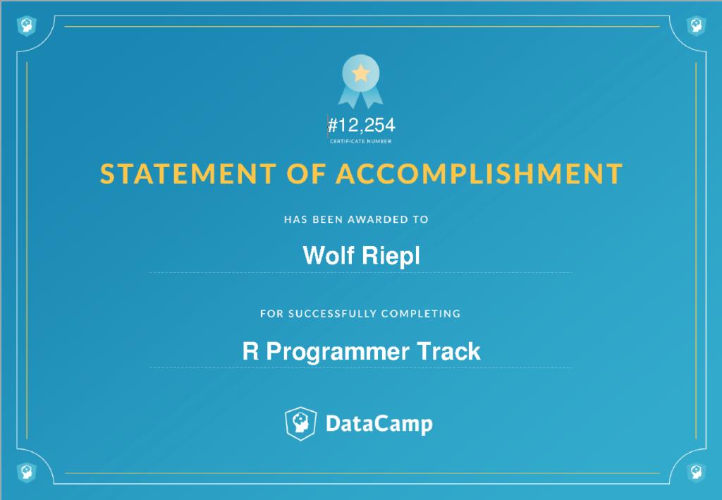 Career Track: R Programmer