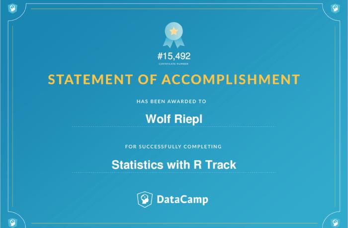 Skill Track: Statistics with R