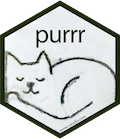 Hex-Sticker des R-Pakets purrr