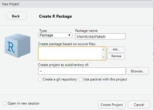 R-Paket erstellen mit RStudio